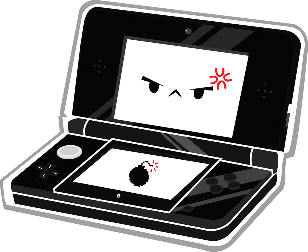 Cute Black 3DS by Berri-Blossom