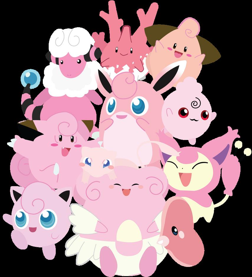 Pink Pokemon Unite! by Berri-Blossom
