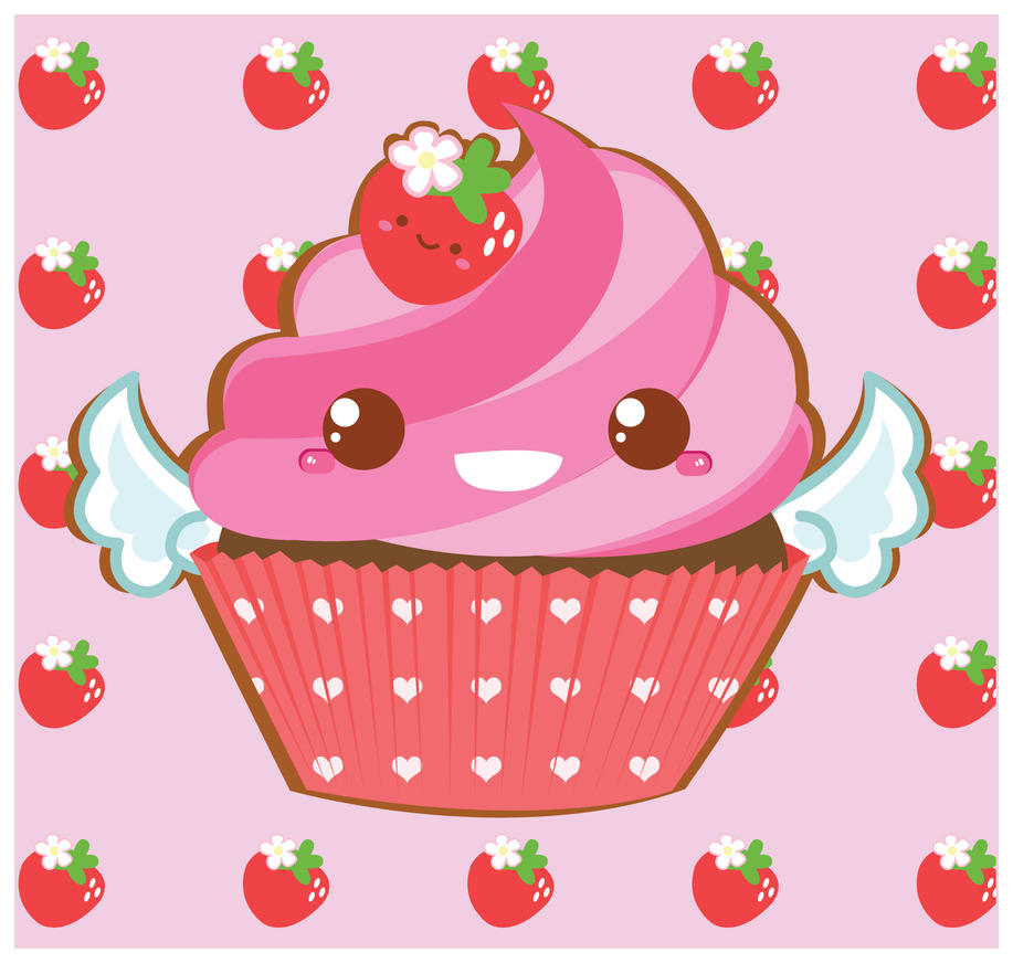 Cute Pink Cupcake by Berri-Blossom on DeviantArt