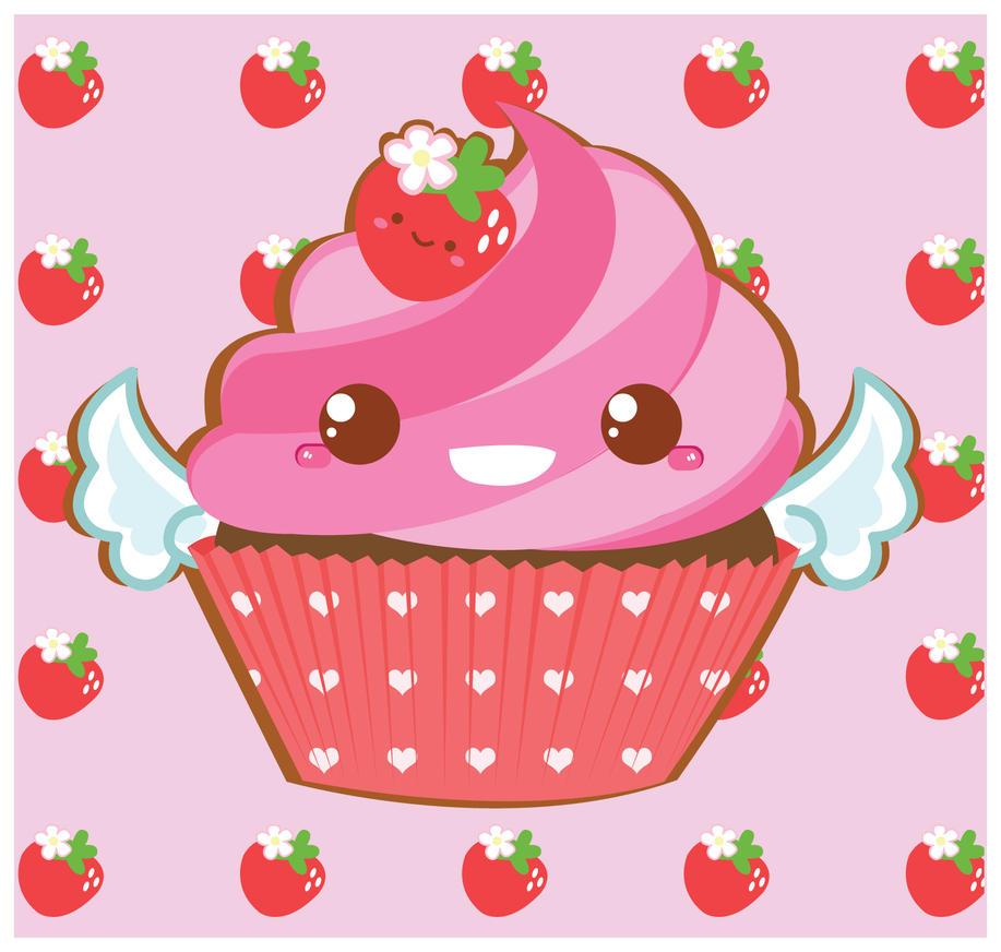 Cute Pink Cupcake By Berri Blossom