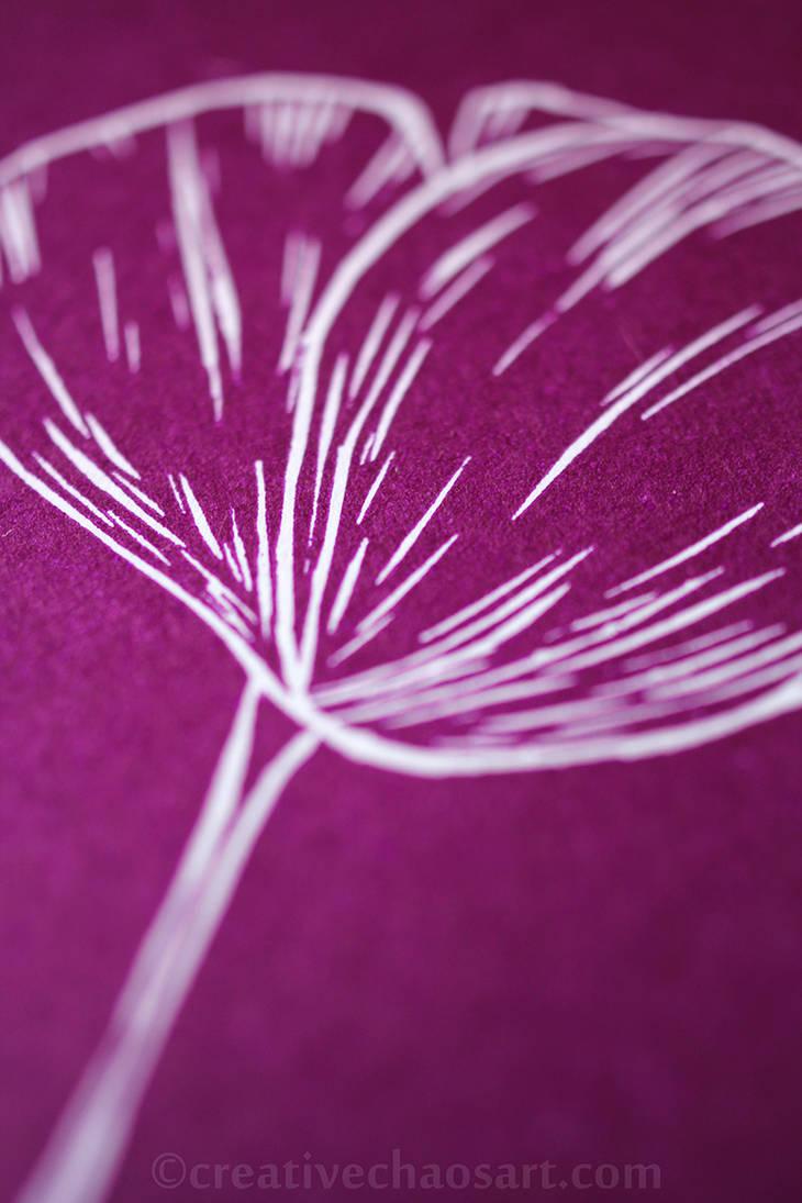Linoprint Poppy II