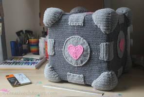 Crochet Companion Cube