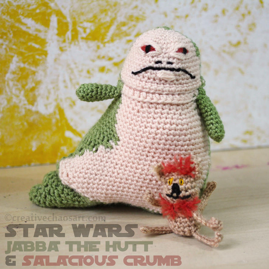 Star Wars | Jabba the Hutt + Salacious Crumb by bicyclegasoline