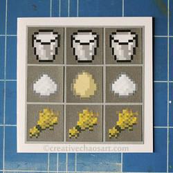 Minecraft Card - Cake Recipe