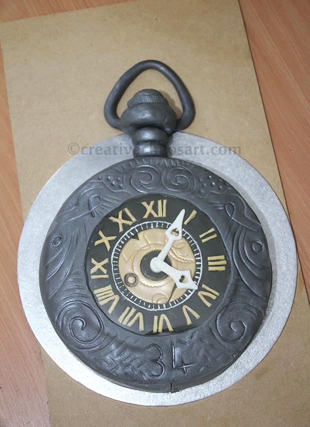 Steampunk Pocket Watch Cake by bicyclegasoline