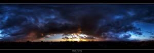 Sunset above Ivanka VI. by roehunter