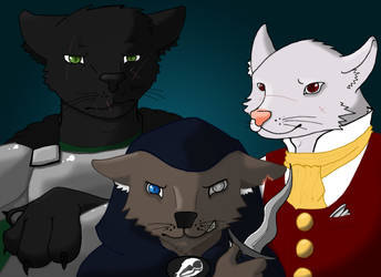Much Obliged Trio by Bucketfox