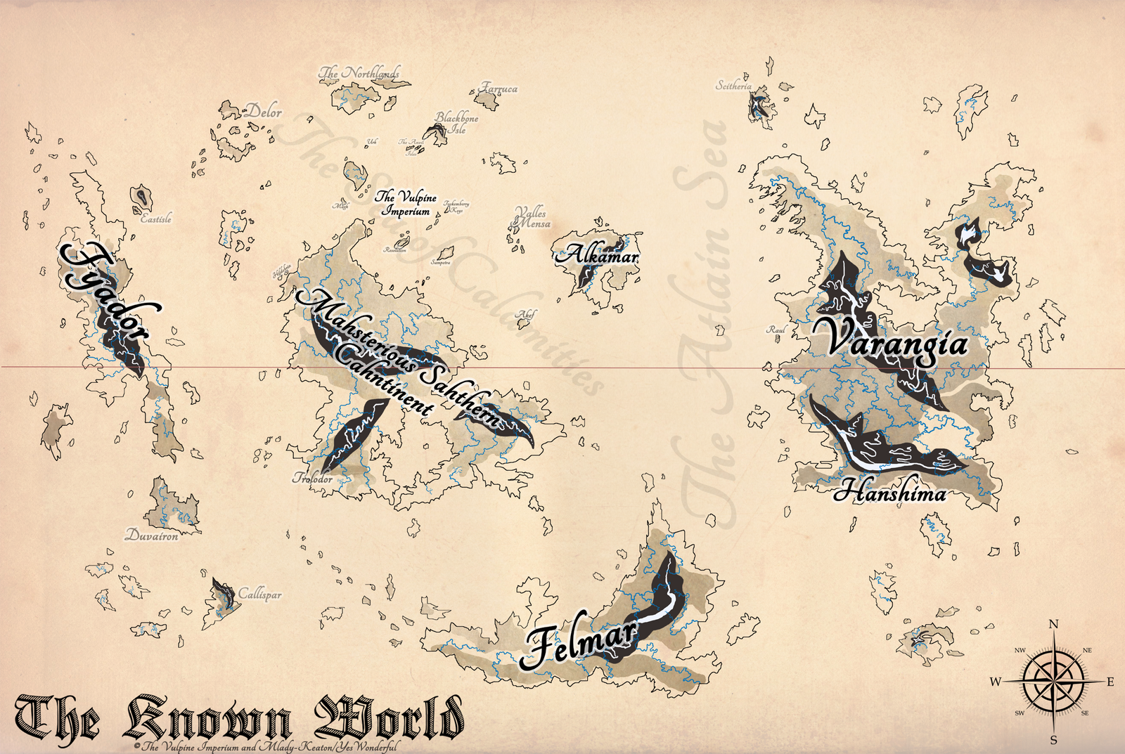 The Vulpine Imperium Map - Ye Olde Style