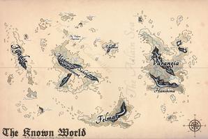 The Vulpine Imperium Map - Ye Olde Style by Bucketfox