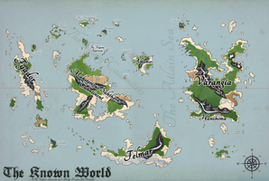 The Vulpine Imperium Map - Ye Coloured Style by Bucketfox