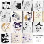 Inktober Part 2 by Bucketfox