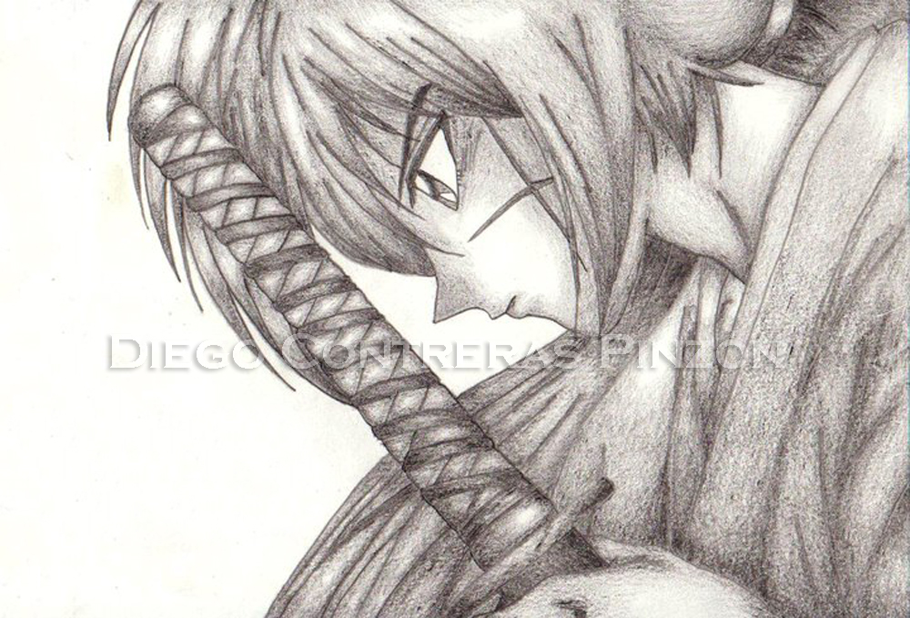 Rurouni Kenshin In Shadows Pencil By DiegoContrerasP