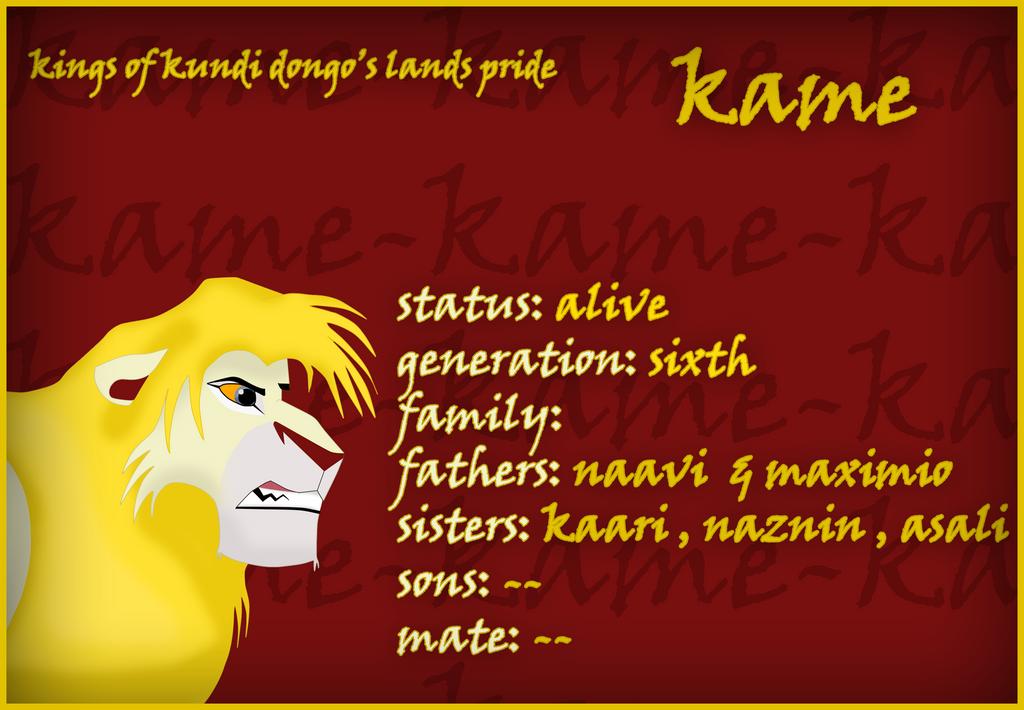 mi arte (si es que a esto se le puede llamar arte) - Página 5 Kings_of_kundi_dongo_lands__kame_by_xtremejoe-d8dq5vl