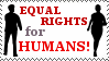 Human Rights Stamp by honeyhowitzer