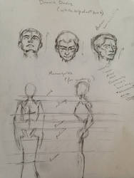 Sketch: Andrew Loomis Style Facial/Body Proportion by 52HertzWhale