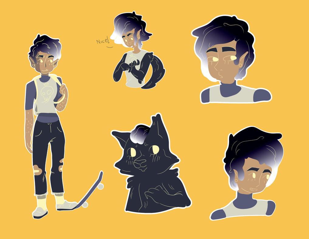 Deviantart Character Design Commission : Werewolf boi character design commission by