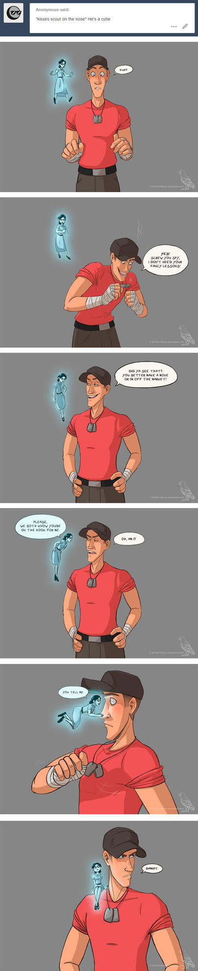 Scout's conscience pt2 (tumblr ask) by NorthernRaven