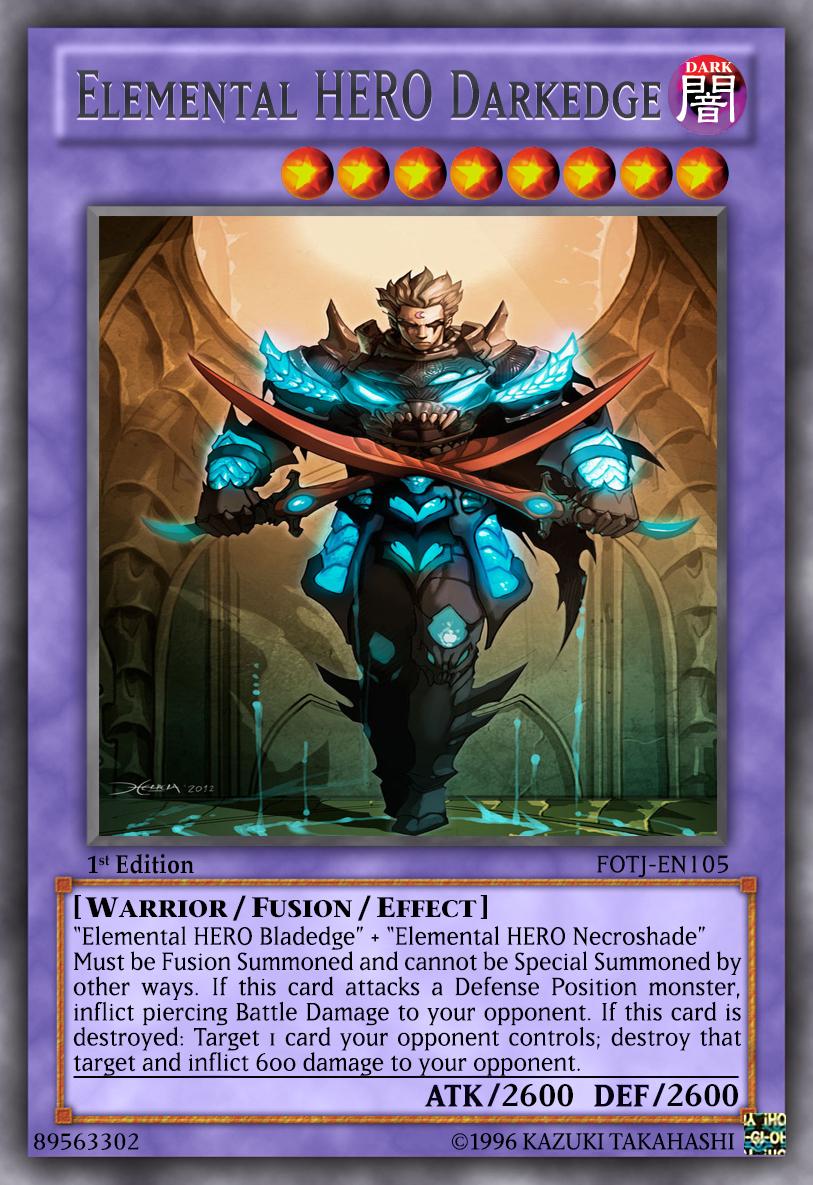 elemental hero darkedge by lightkeyblademaster on deviantart