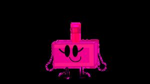 Deep Pink Pencil Sharpener (PNG)