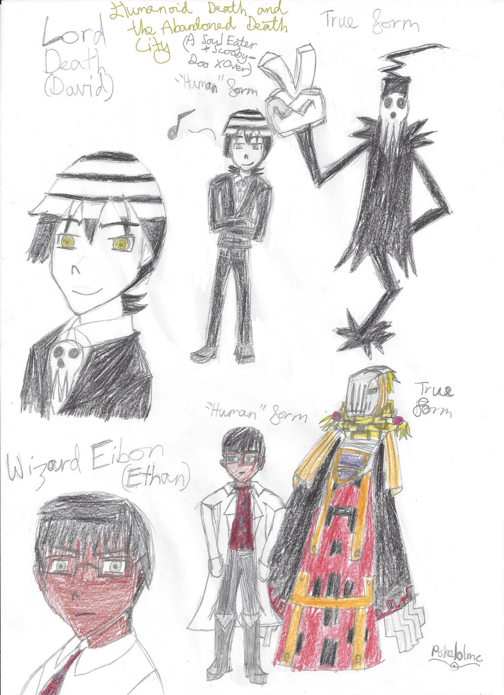 Lord Death and Eibon (Soul Eater) human forms by Pokelolmc on ...