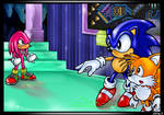 Knuckles vs. Sonic and Tails
