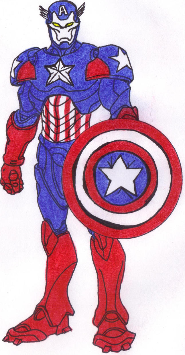 Captain American Iron Man by DBZ2010