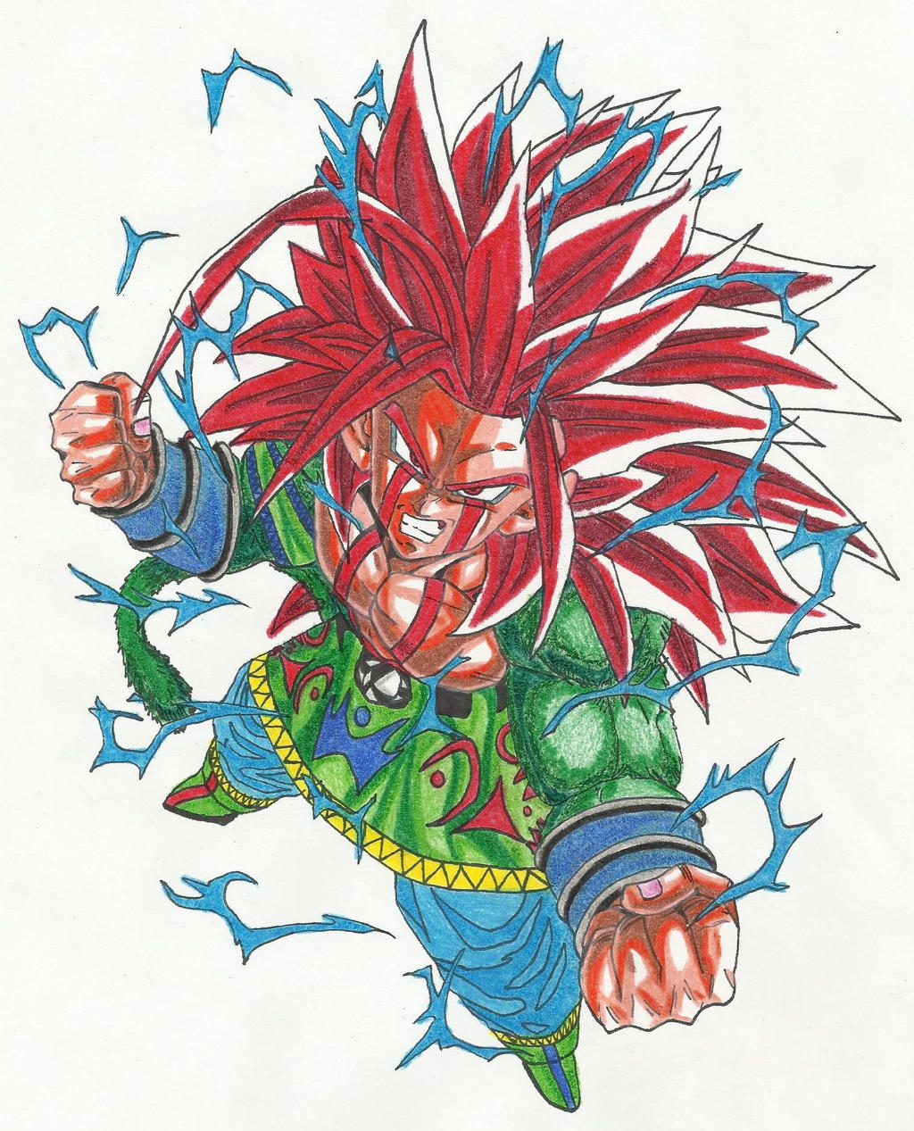 goku af super saiyan 5 dragon mode by dbz2010 on deviantart