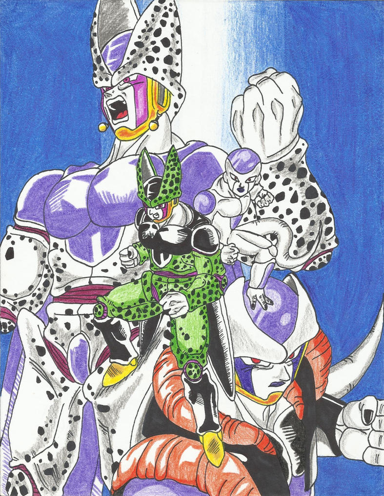 Perfect Cell and Frieza Fusion by DBZ2010