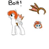 OC Pony Bolt by SketchyTheUnicorn