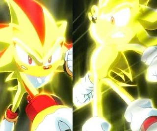 super shadow vs super sonic by karimynarumy on DeviantArt