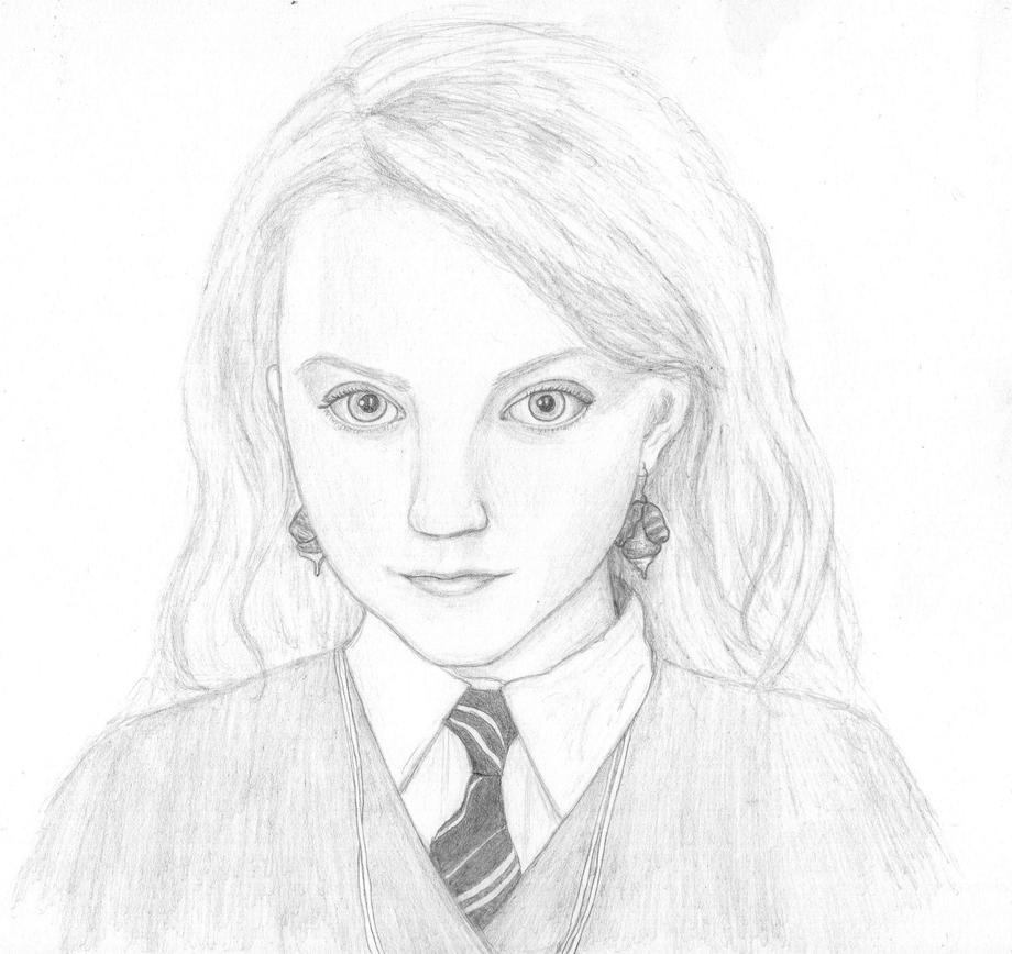 Line Drawings From D Models : Luna lovegood by meltingsnowflayk on deviantart