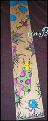 Plank Painting- Enchanted by PhantasmicRose