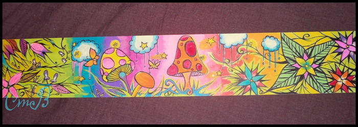 Plank Painting- Forest by PhantasmicRose