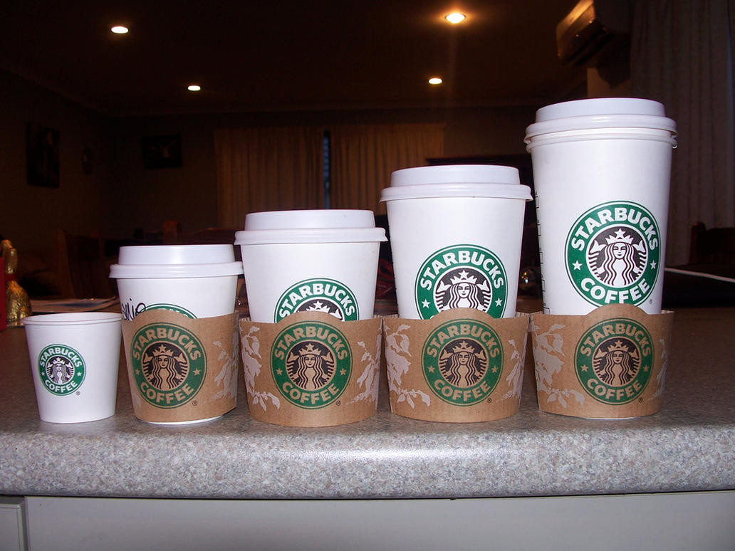 starbucks drink sizes Recently, it was in the news that a starbucks customer in dallas, texas bought a frappuccino which totaled about $5400 and went into a personal cup that was about 128 ounces the news.