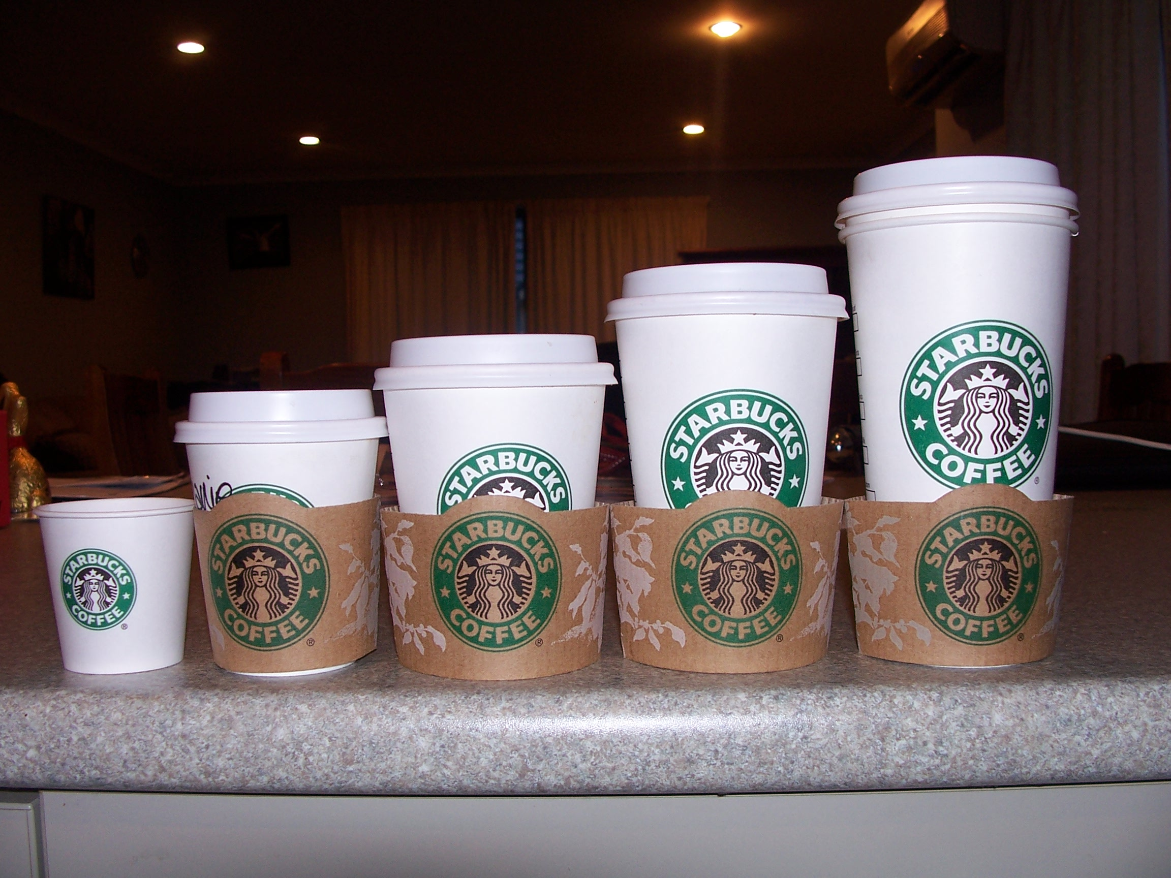 Vasos para cafe starbucks