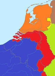 Map of divided Netherlands 1998-2007