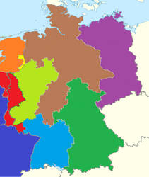 Map of former Germany 1998-2007