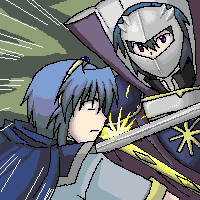 Oekaki: Marth vs Meta by jellyfishkingd