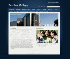 Clean Blue College site by thrx