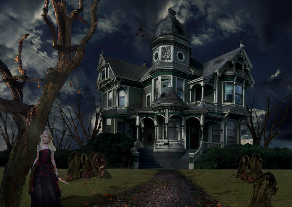 Pin pin scary house 1366x768 wallpapers desktop background for Pinterest haunted house