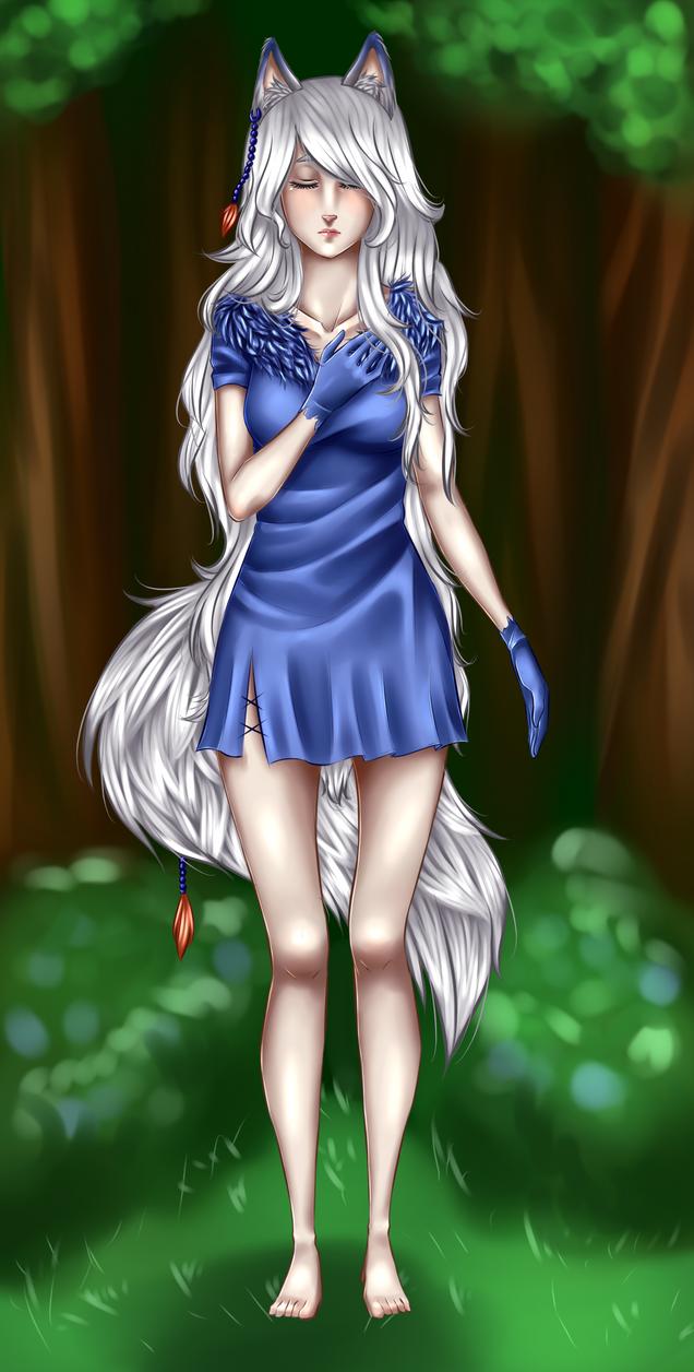 Art Trade - Taliawolf: Skye by YuukiCross28