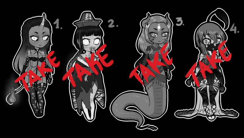 OPEN! 1/4 Adoptable Monster Girls 2 by CrimsonSnows