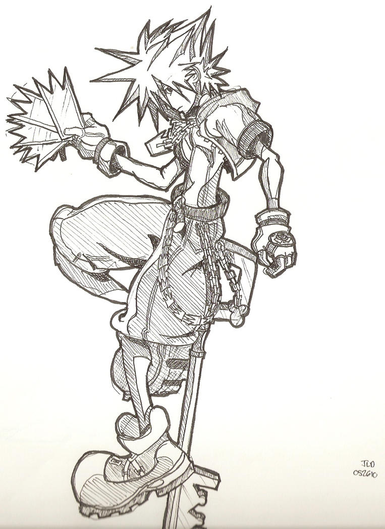 Kingdom Hearts Sora, Ink by Kammorremae