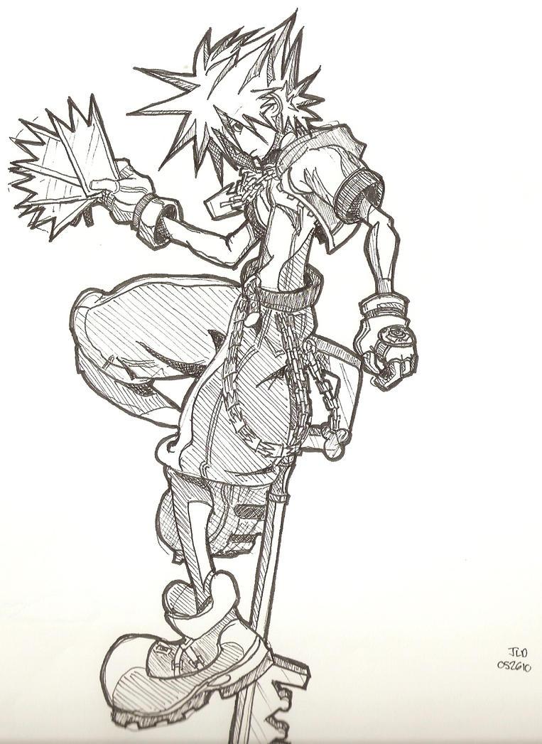 Kingdom Hearts Sora, Ink by Kammorremae