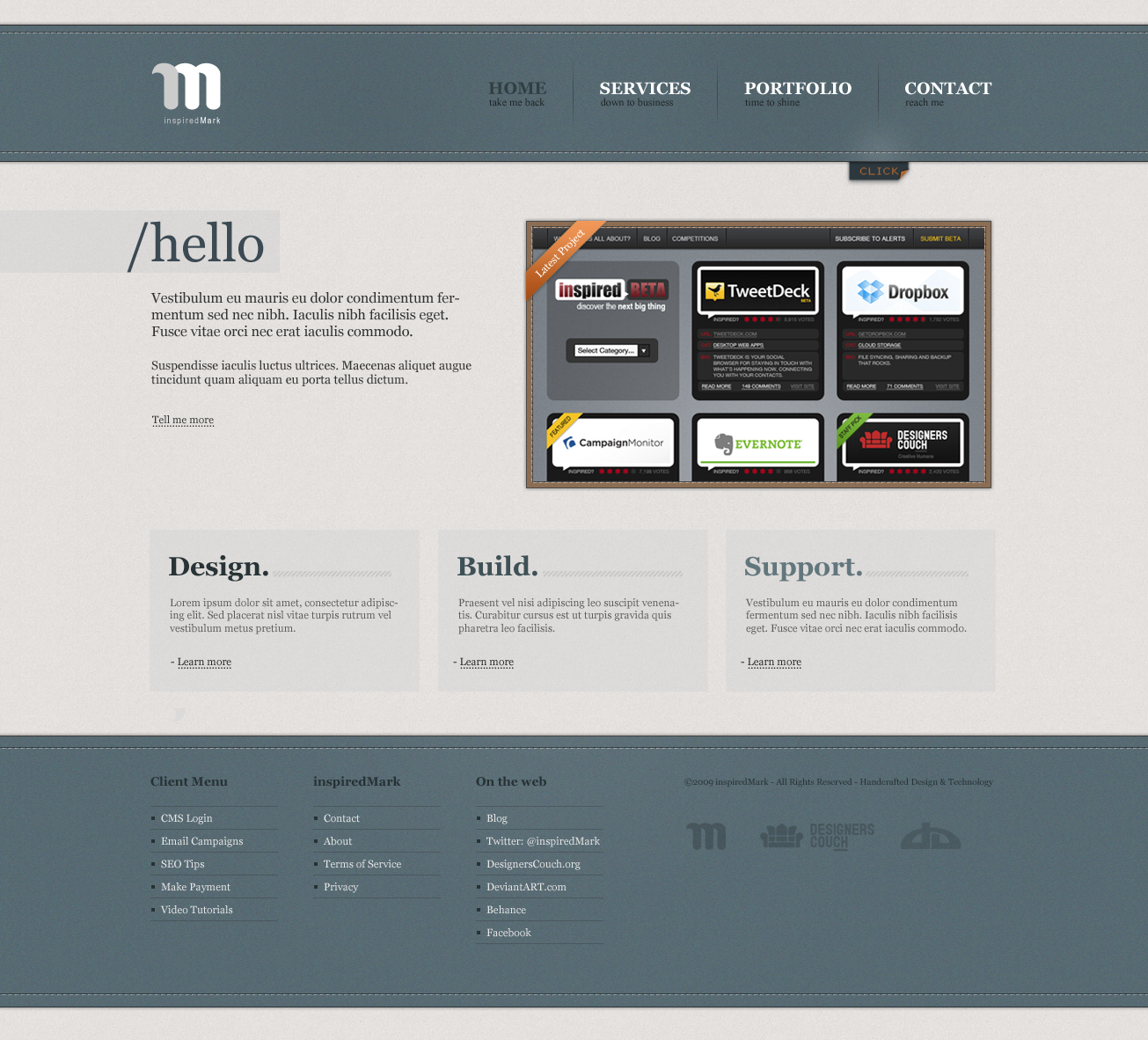 New Folio Site by inspiredMark