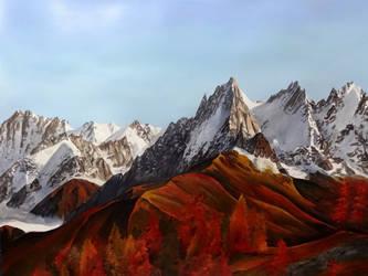 Aiguilles de Chamonix by krisbuzy