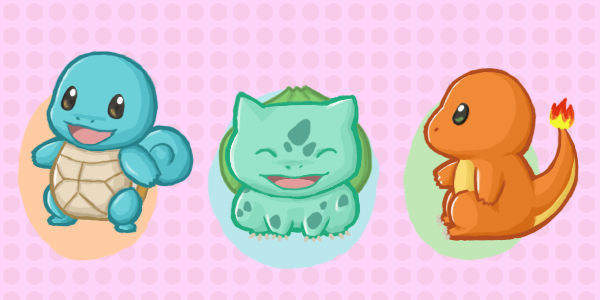 how to draw to cute starter pokemon
