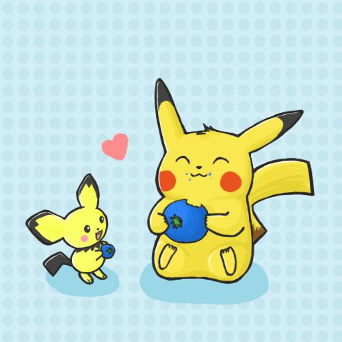 Pikachu and Pichu by atomicspacemonkey