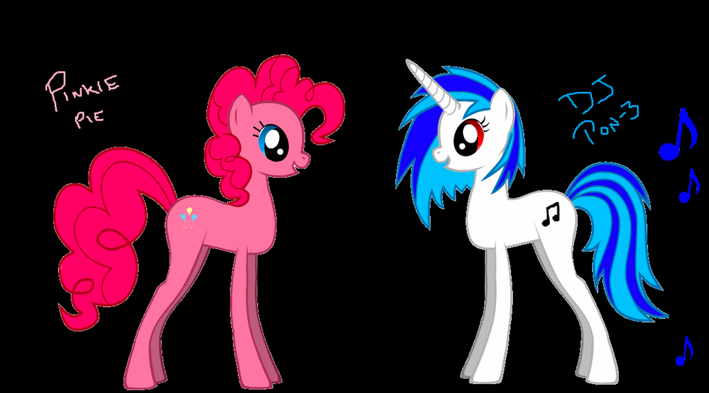 Pinkie and Scratch by ErhmDieXD