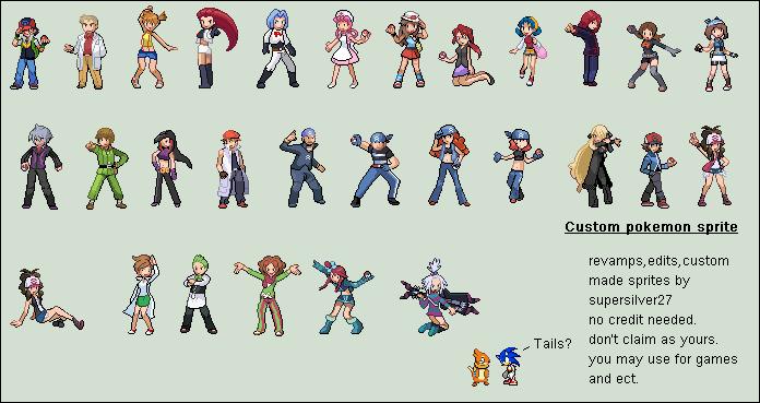Custom Pokemon Trainers Sprites by BaysenAhiru427 on ...
